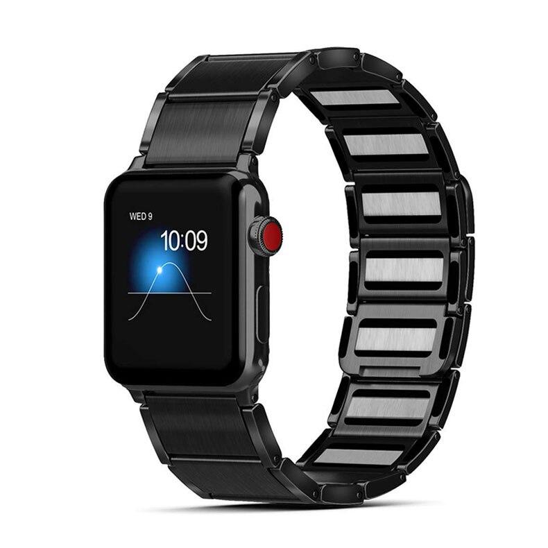 Bracelet à maillons et Fermeture magnétique pour Apple Watch