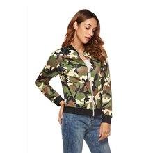 Молния Бейсбол равномерное куртка пальто осень женская куртка камуфляж одежда мода пальто весна женщины топы плюс размер 3XL