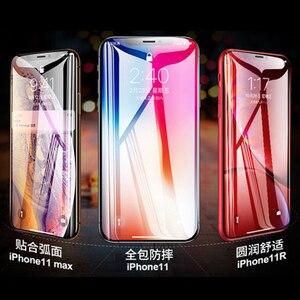 Image 2 - 3D מלא דבק מזג זכוכית עבור iPhone 11 11 פרו 11Pro מקסימום 9H מלא מסך כיסוי מסך מגן סרט עבור iphone 12 מיני Pro מקסימום