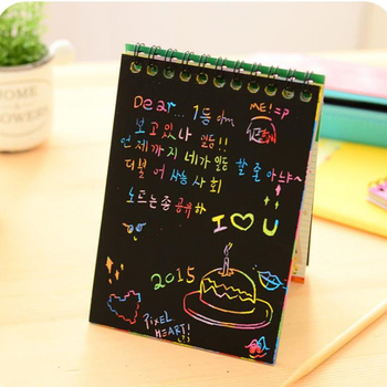 Magic Colorful Drawing Board Paper Painting Scraping Children Kids Learning Education Toys Painting Doodle Scratch Toys DIY magnetic diy blackboard drawing board with chalk pen children kids painting doodle education toys for children birthday gift