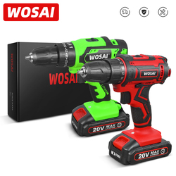 WOSAI New Series 12V 16V 20V Cordless Drill Screwdriver Mini Wireless Power Driver 25+1 Torque Settings Lithium-Ion Battery