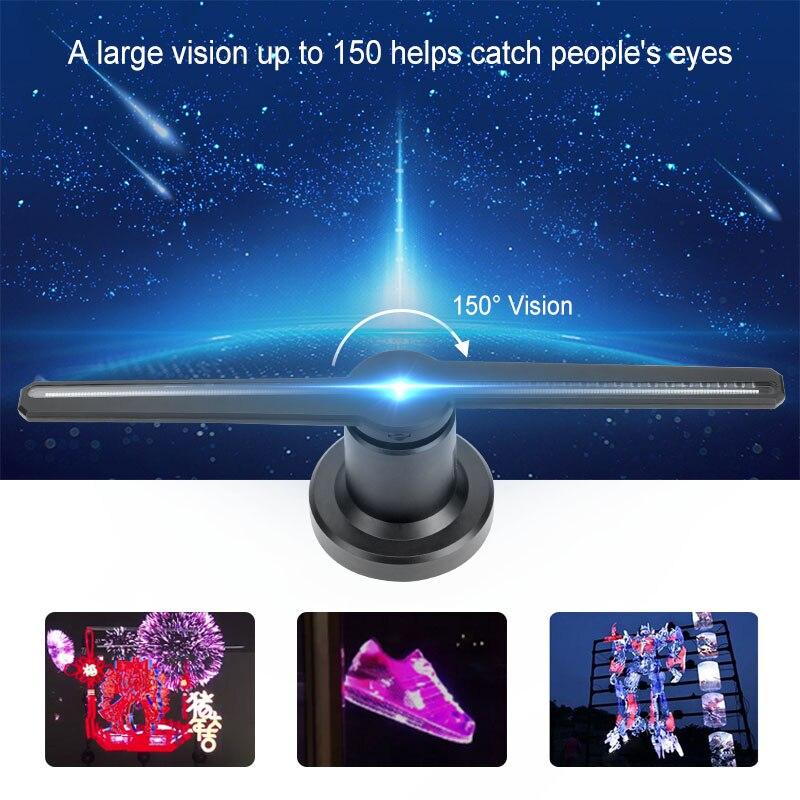 43cm 224led 3D Hologram LED Light Projector WiFi Advertising Display Fan Holographic Imaging Lamp 3D Remote Hologram Player