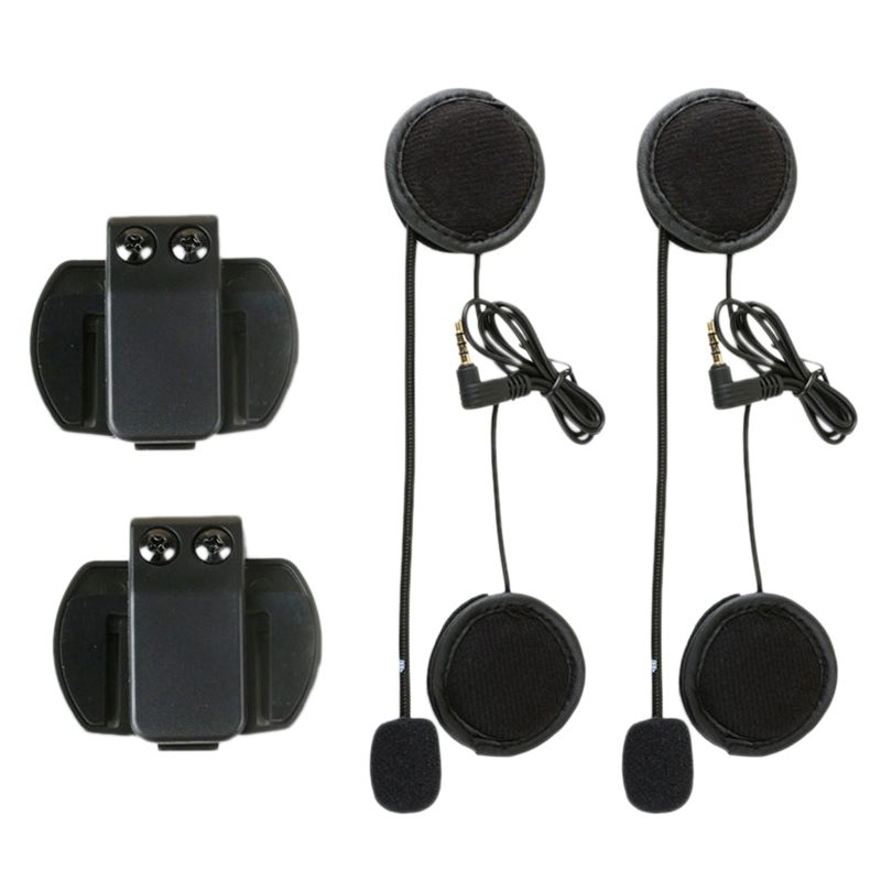 2PCS 3.5MM for V6 Pro Accessories Earphone Speaker Microphone Clip for Vnetphone V4/V6 Motorcycle Helmet Bluetooth Intercom