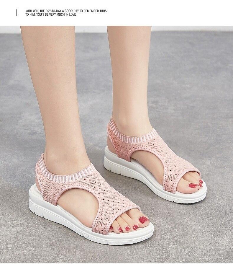 Hd7c184e6fac44e87ac5b0e1ebe6278e4r WDZKN 2019 Sandals Women Summer Shoes Peep Toe Casual Flat Sandals Ladies Breathable Air Mesh Women Platform Sandals Sandalias