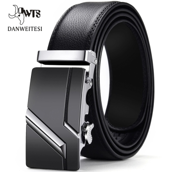 [DWTS]Men Belt Male Genuine Leather Belt Men Strap Belts For Men Automatic Buckle Black Men's Belts Cummerbunds cinturon hombre