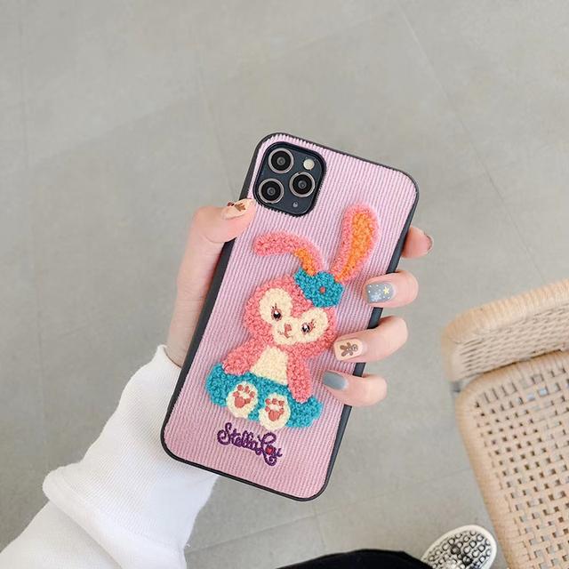 Corduroy 3D Plush Duffy Star Purple Rabbit iPhone Case