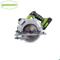 Greenworks 6 1/2 inch 24V battery Circular Compact Saw with 165mm 18T TCT Blade Circular Saw Woodworking Tools Wood|Electric Saws| |  -