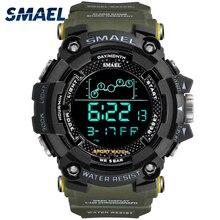 Herren Uhr Military wasserdicht SMAEL Sport uhr Armee führte Digitalen handgelenk Stoppuhren für männlichen 1802 relogio masculino Uhren