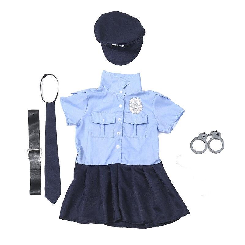 Boy Girl Fireman Doctor Dress Up Costume Kids Police Offcier Cosplay Fancy Dress
