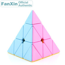 цены FanXin LingGan 3x3x3 Pyraminxeds Magic Cube 3x3 Pyramid Professional Speed Puzzle Twisty Brain Teaser Antistress Educational Toy