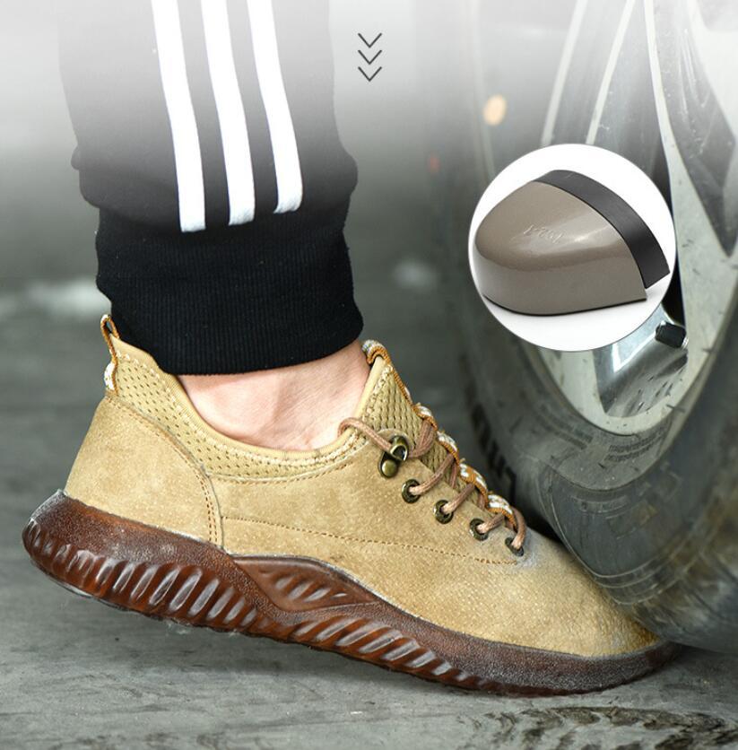 CS704 Men Steel Toe Cap Safty Boots Genuine Leather Anti-smashing Anti-piercing Indestructible Shoes Work Sneakers Designer Shoe