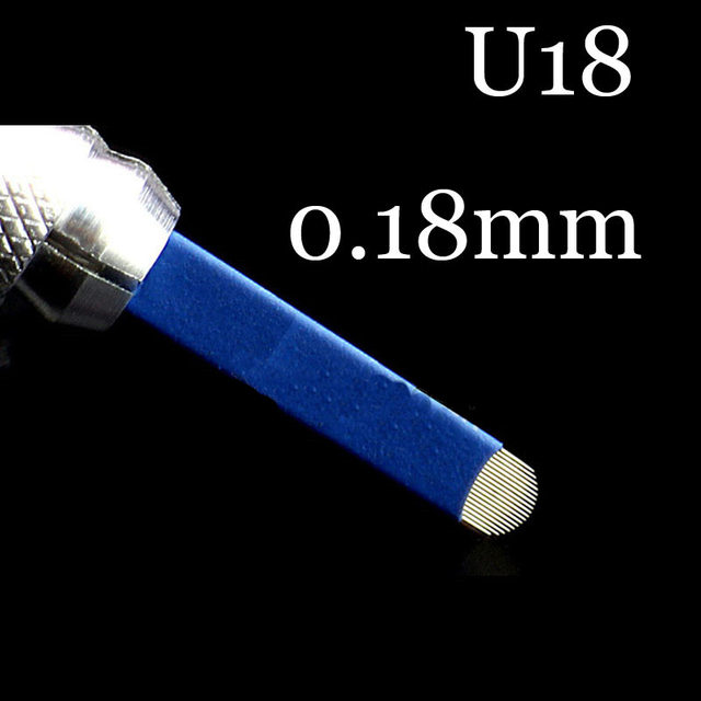50pcs Microblading 0.18mm Tebori Blades Needles Tattoo needles Permanent Makeup Needle 7 9 12 14 17 21 Manual Eyebrow Blades 2