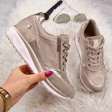 Women's shoes Wedges Sneakers women Vulcanize Shoes Sequins