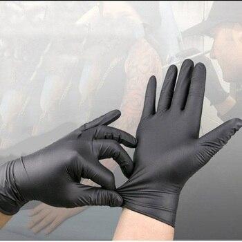 Universal Disposable nitrile gloves black gloves household food grade oil resistant acid alkali resistant non slip 30/50/100pcs brand new 45cm acid alkali resistant safety gloves waterproof and oil anti skid gloves industrial gloves free shipping