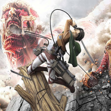 Figurine de collection Shingeki no Kyojin, 28cm, modèle attaque des titans, jouets d'action, Levi Ackerman Heichov, 1/8