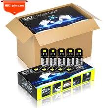 Dxz 100 pçs w5w 168 194 t10 led canbus lâmpadas 6000k branco para interior do carro cúpula mapa luz luzes de estacionamento livre erros 12v