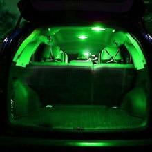 Luzes da lâmpada da placa de licença t10 kit verde automático led pacote 12v 13x carro dome
