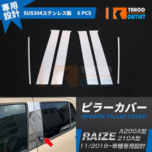 Экстерьерные аксессуары для автомобиля toyota raize a200a/210a