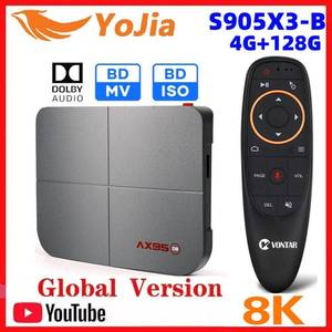 Support Disiney+ 8K Smart TV Box Android 9.0 Amlogic S905X3-B Dolby BD MV ISO Media Player 2020 4G 128G Dual Wifi PK X96 H96 MAX