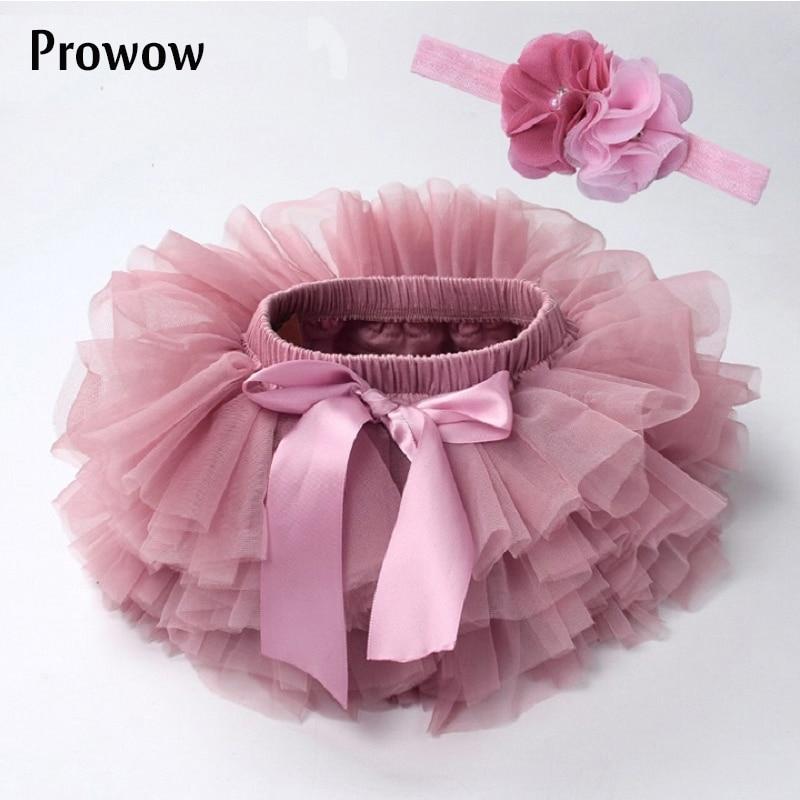 Baby Girl Tutu Skirt Infant Newborn Tutu Diapers Cover 2pcs Short Skirts+Headband Set Girls Skirts Rainbow Skirt Baby clothes