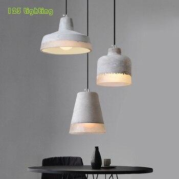 Промышленные стиль цементные подвесные светильники Ретро столовая для комнаты, Подвесная лампа Бар Салон Bedrom подвесной светильник Лофт де...