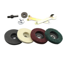 4 Inch Flap Disc Grinding Sanding Angle Grinder Wheel Sand Paper Set Tool Supply(China)