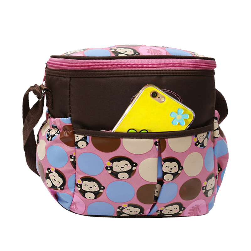 New Style Infant Cart Pannier Bag Shoulder Diagonal Handbag Fashion Multi-functional Light Diaper Bag Bag Diaper Bag