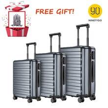NINETYGO 90FUN 20 24 28 inch Set Titanium Grey Suitcase Carry on Spinner Wheels Rolling Luggage TSA lock Business Travel