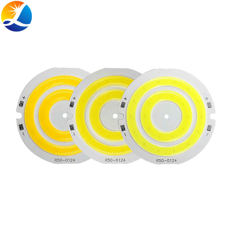 3V LED Light 50mm Diameter Round COB Chip Double Ring LED Lamp 3.7V 5W LED Bulb For DIY Worklights House Decor Lighting