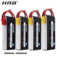 HRB Lipo batterie 4S 14 8 V 5000mAh 5200mah 6000mah 8000mah 10000mah 12000mah 16000mah 22000mah 50C Für RC Hubschrauber Quadcopter-in Teile & Zubehör aus Spielzeug und Hobbys bei