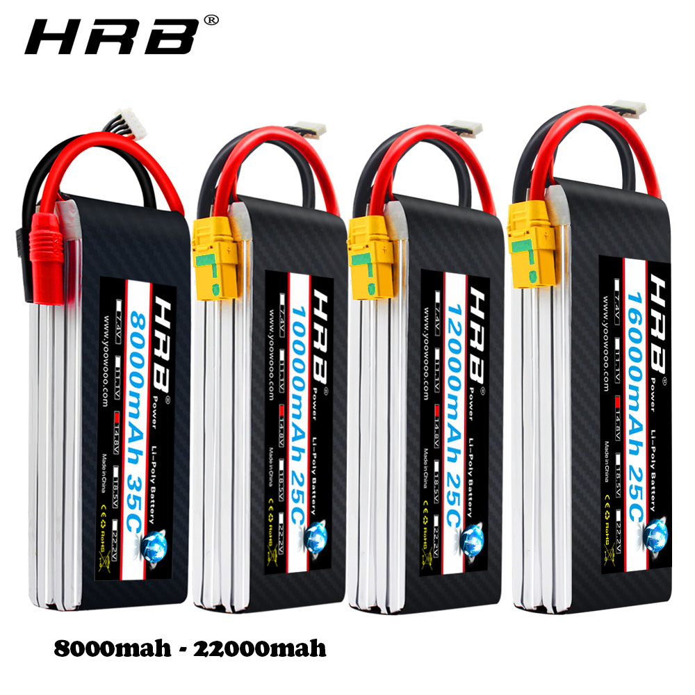 HRB Lipo Battery 4S 14.8V 5000mAh 5200mah 6000mah 8000mah 10000mah 12000mah 16000mah 22000mah 50C For RC Helicopter Quadcopter