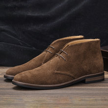 Genuine Leather Men Ankle Boots Size 7~12 Comfortablem Wootten brand fashion 2021 Desert Boots Shoes for men #KD583