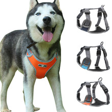 Мягкая шлейка для собак Регулируемый жилет светоотражающий легкий контроль для маленьких средних и больших собак Высокое качество#4
