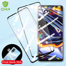 CHYI protective glass For realme 7 6 pro screen protector Full glue glass for oppo realme 7 6 pro back Hydrogel film