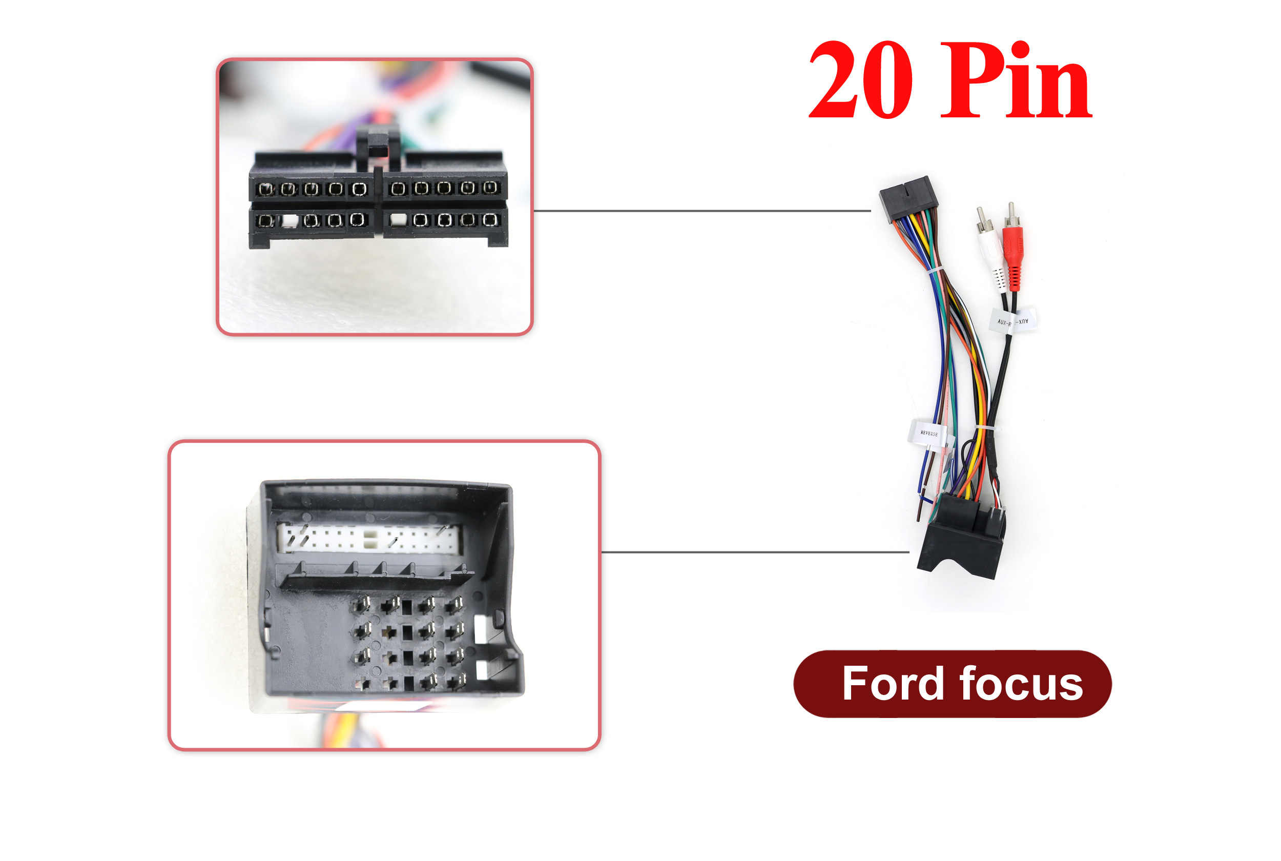 20 Pin For Ford Focus Iso Wiring Harness Car Radio Adaptor Connector Wire Plug And Play Cables Adapters Sockets Aliexpress