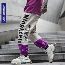 UNCLEDONJM Colour Block Baggy Harem Pants Streetwear Men 2020 Summer Hip Hop Casual Trousers Fashion Male Pants Cargo pants K815 стоимость