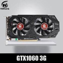 Veineda Kartu Grafis GTX 1060 3GB 192Bit GDDR5 PCI-E X16 Kartu Video untuk NVIDIA GeForce GTX1060 3GB HDMI DVI DP Kartu