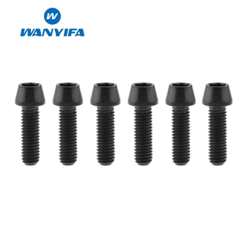 Wanyifa 6pcs M5x16mm Titanium Ti Stem Bolts For Bike Conehead MTB Bicycle Stem Screws Fixed Bolts Bike Parts image