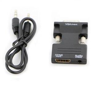 Image 5 - Convertisseur HDMI vers VGA femelle vers mâle 1080P adaptateur convertisseur Audio vidéo numérique vers analogique pour ordinateur portable