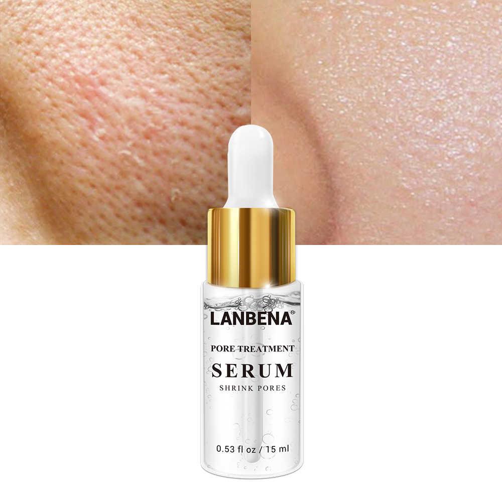นาฬิกา LANBENA หดรูขุมขนเซรั่มลบสิวหัวดำสิว Anti-Wrinkle Moisturizing Whitening Firming Blemish NATURAL Face Care 15ml