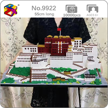 PZX 9922 World Architecture Tibet Lhasa Potala Palace 3D Model DIY Mini Diamond Blocks Bricks Building Toy for Children no Box