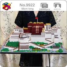 PZX-bloques de construcción para niños, juguete de ladrillos para armar Palacio Lhasa tibetano en 3D, con diseño de arquitectura mundial, sin caja, 9922