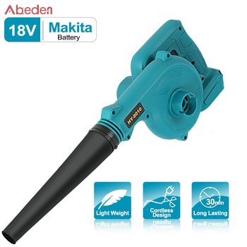 Rechargeable Air Leaf Blower Makita 18V Batter  Blower Dust Collector Car Cleaner Cordless Vacuum Cleaner Electric Power Tool abeden electric leaf blower 20v max lithium cordless sweeper 3 0 ah battery charger included turbo fan dust cleaner collector