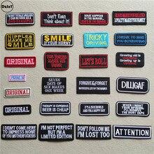 Цветной буквы патчи для одежды DIY полосы Утюг на написанных слов аппликации Костюмы наклейки вышивка алфавит значки