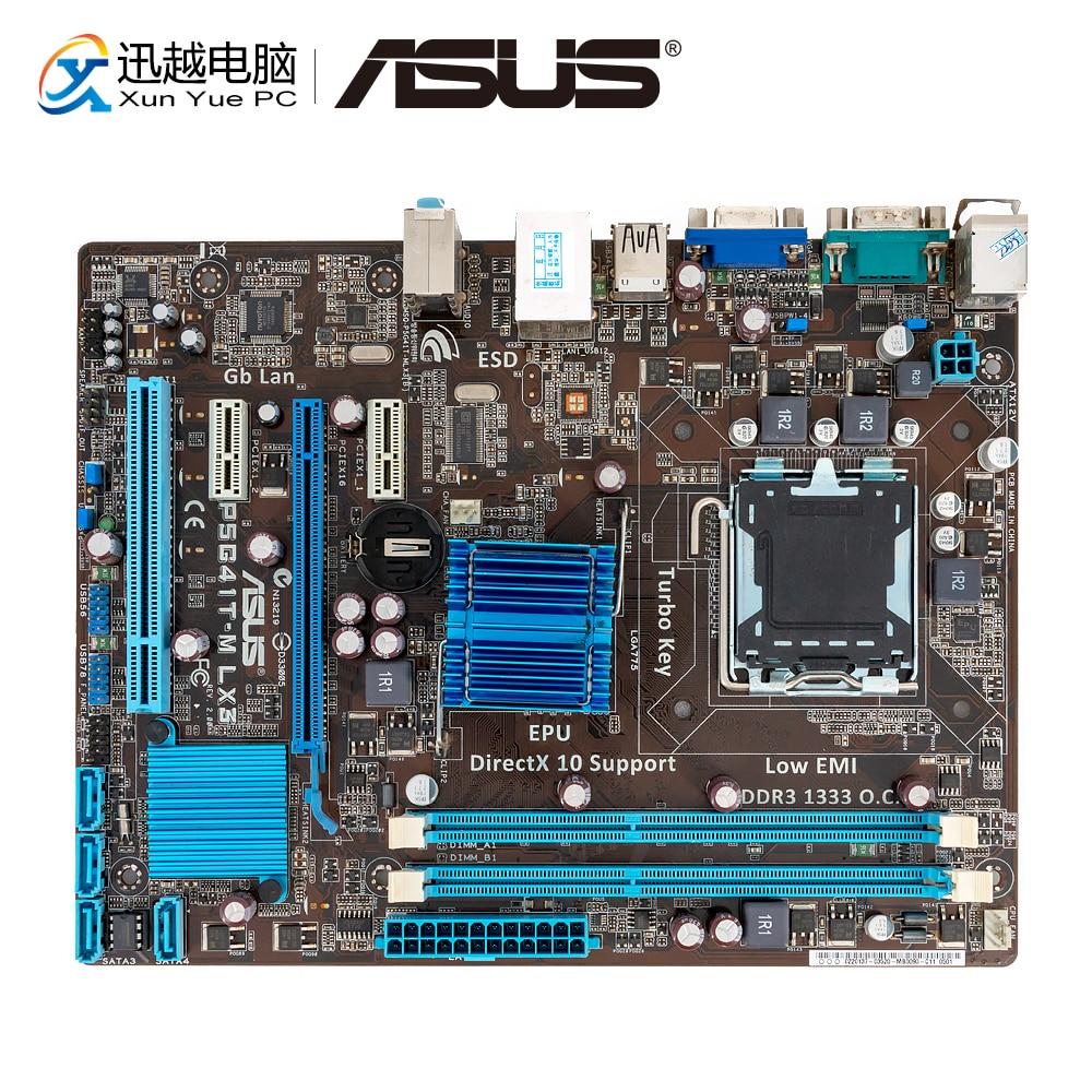 Asus P5G41T-M LX3 Desktop Motherboard G41 Socket LGA 775 For Core 2 Duo DDR3 8G SATA2 USB2.0 VGA UATX Original Used Mainboard