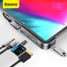 Baseus USB C HUB to USB 3.0 HDMI USB HUB for iPad Pro Type C HUB for MacBook Pro Docking Station Multi 6 USB Ports Type-C HUB цена и фото
