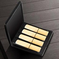 Kwaliteit slijtvaste saxófoon rieten caixa de caixa de caixa de palheta axofone caixa de palheta rieten opbergdoos kan houden 8 stuks riet reed