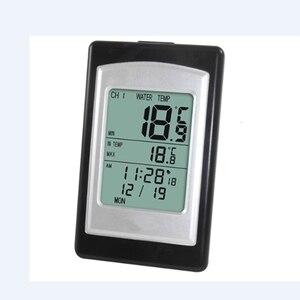 Image 3 - אלחוטי בריכת מדחום חם אמבטיה בית לשחות ספא מים מד טמפרטורת לוח שנה מעורר שעון 40 ~ 60C עמיד למים מחוץ חיישן