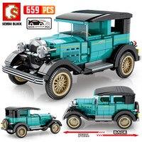 SEMBO BLOCK City tirare indietro blocchi tecnici classici per Auto pechino Auto museo veicolo mattoni giocattoli per bambini