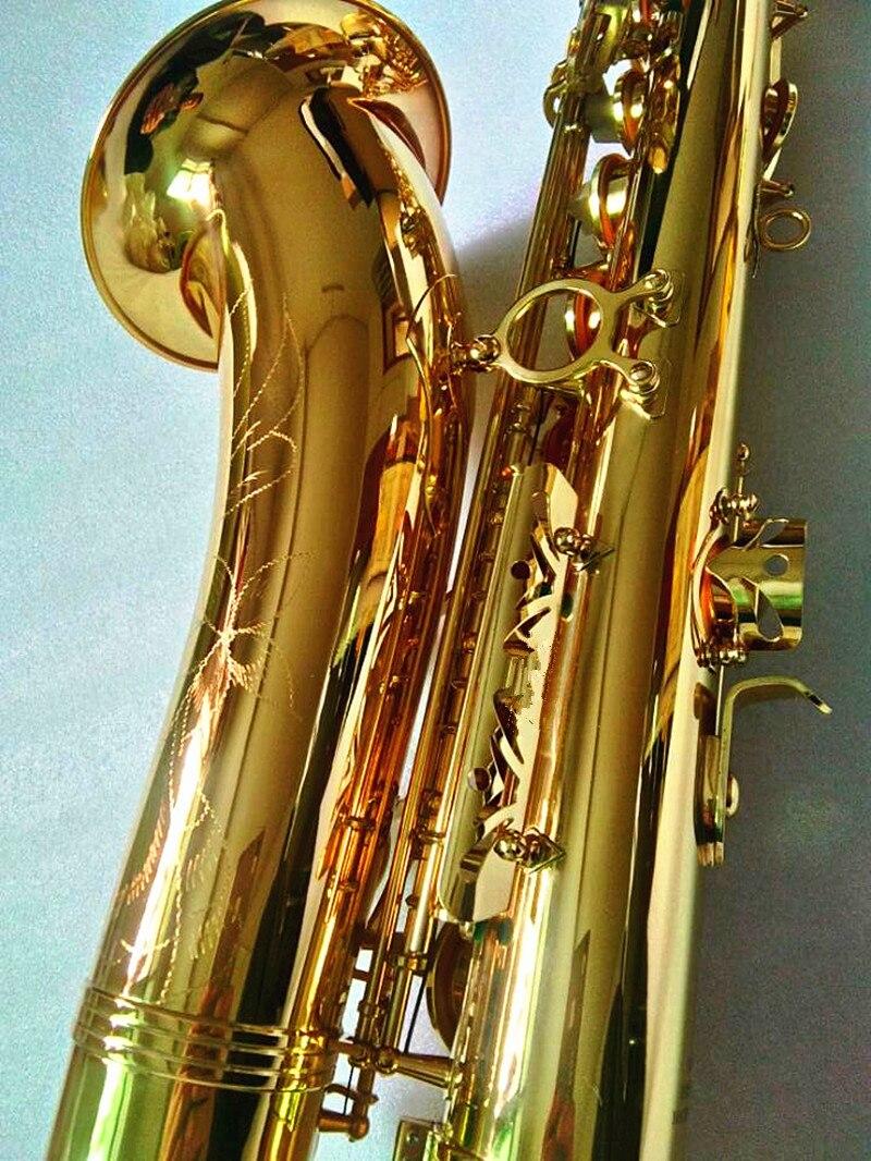 saxofone plana latão banhado a ouro instrumentos musicais com caso